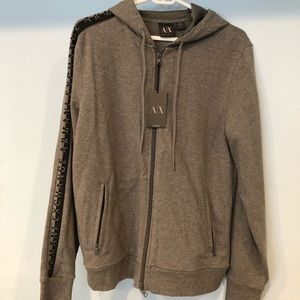 Armani Exchange zip up hoodie